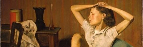 El puritanismo en el Arte. Balthus - Thérèse Dreaming (el sueño de Teresa), 1938.