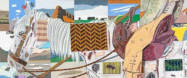 Eduardo Arroyo - Le retour des croisades, 2017. Óleo sobre lienzo. 200x300 cm. Detalle.