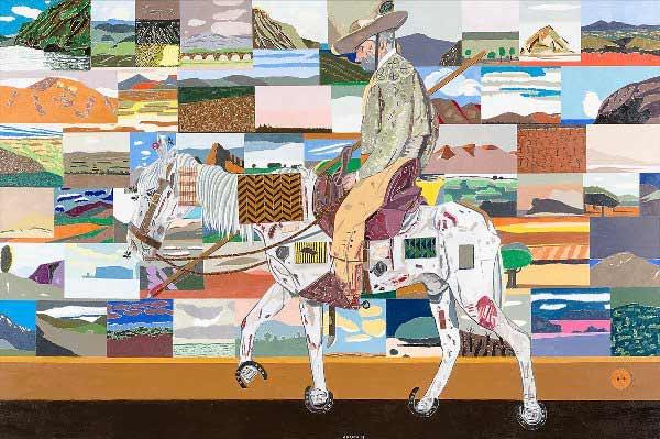Eduardo Arroyo - Le retour des croisades, 2017. Óleo sobre lienzo. 200x300 cm.