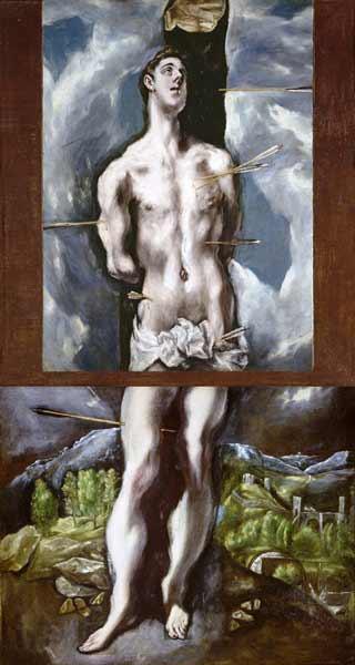 Recortar lo sagrado. El Greco - San Sebastián saeteado. Museo del Prado.