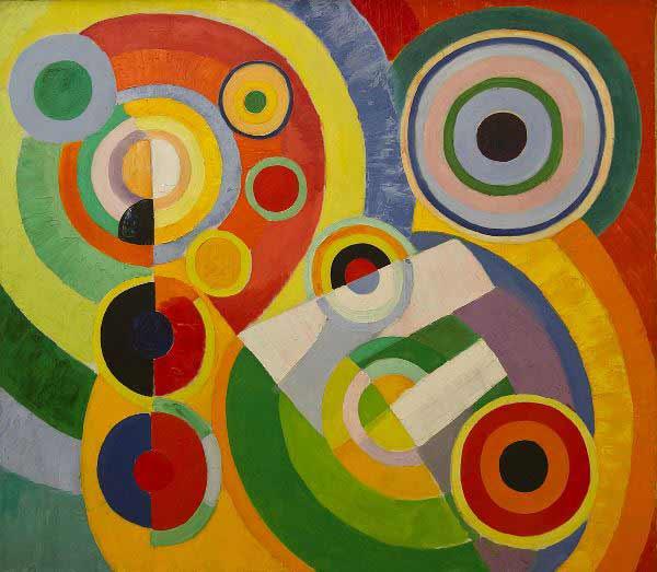 Robert Delaunay - Rythme, Joie de vivre, 1930. En la Colección del Centre Pompidou Málaga.