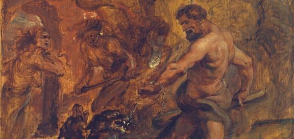 Rubens - Hércules y el Cancerbero, 1636-38, detalle.