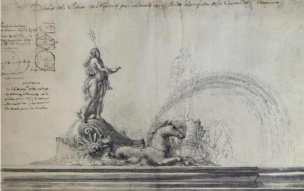 Ventura Rodríguez - Diseño de la fuente de Neptuno.