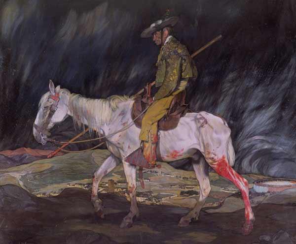 Ignacio de Zuloaga y Zabaleta (Eibar, Gipuzkoa, 1870 - Madrid, 1945) - La víctima de la fiesta, 1910. Óleo sobre lienzo, 284 x 334 cm. The Hispanic Society of America, Nueva York.