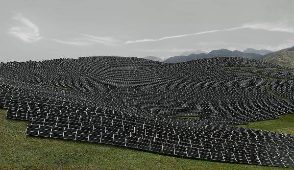 Andreas Gursky - Les Mées, 2016, detail. ©Andreas Gursky/DACS, 2017. Courtesy: Sprüth Magers