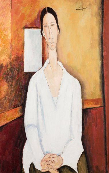 Elmyr de Hory - Retrato de una dama, Modigliani. Con firma Modigliani en la parte superior derecha; al dorso firmado por el artista. Óleo sobre lienzo. 92 x 60 cm. A subasta en Ansorena el 25 de enero de 2018. Precio de salida: 1.500 €.