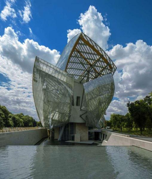 La Fondation Louis Vuitton. Detalle.