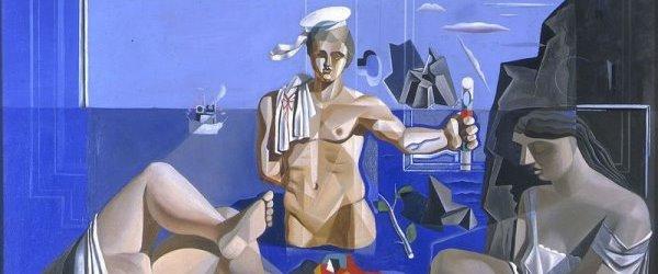 Salvador Dalí - Academia neocubista, 1926. Detalle.
