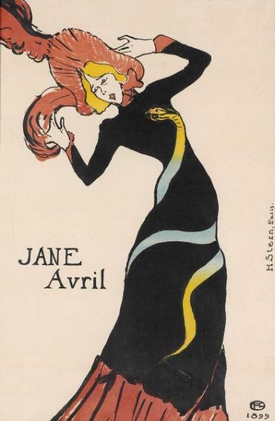 Toulouse-Lautrec - Jane Avril, 1899. Imagen cortesía del Musee d' Ixelles.