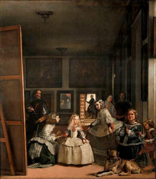 """Diego Velázquez – """"Las Meninas o la familia de Felipe IV"""", en el Museo del Prado"""