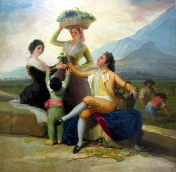 Francisco de Goya (Fuendetodos, Zaragoza, 1746-Burdeos, 1828) – La Vendimia o El otoño, 1786-1787. Óleo sobre lienzo. 275 cm × 190 cm.