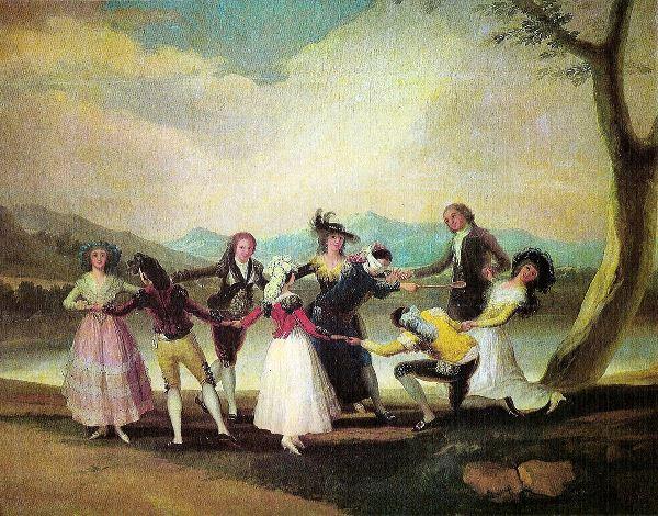 Francisco de Goya (Fuendetodos, Zaragoza, 1746-Burdeos, 1828) - La gallina ciega, 1788. Óleo sobre lienzo. 269 x 350 cm.