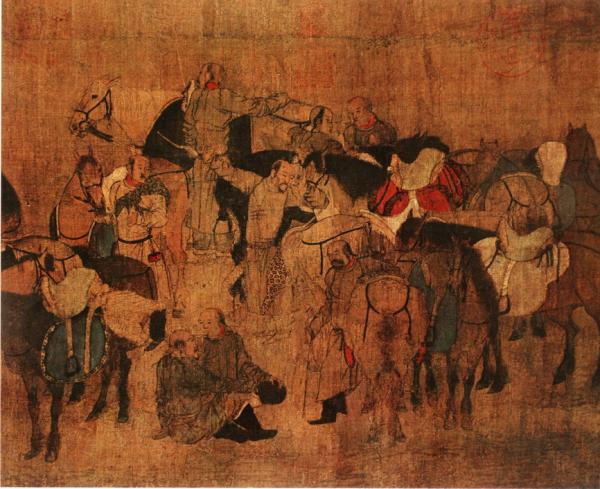 Una pintura de la Dinastía Liao.