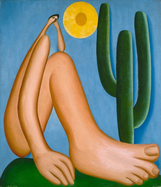 Tarsila do Amaral – Abaporu, 1928. Oil on canvas, 33 7/16 x 28 3/4″ (85 x 73 cm). Collection MALBA, Museo de Arte Latinoamericano de Buenos Aires. © Tarsila do Amaral Licenciamentos.