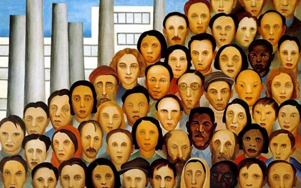 Tarsila do Amaral - Operários, 1933. Oil on canvas. 150 x 205 cm.