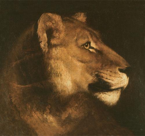 Théodore Géricault (1791-1824) - Tête de lionne, © RMN-GP (Musée du Louvre) / Thierry Le Mage. Una de las obras expuestas con el objetivo de devolver lo robado.