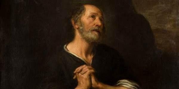 "BARTOLOMÉ ESTEBAN MURILLO Sevilla (1618) / (1682) ""San Pedro penitente"", ca. 1675. Óleo sobre lienzo. Detalle."