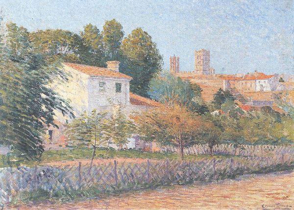 Étienne Terrus - Vue d'Elne, 1900. Esta obra sí es auténtica.