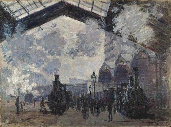 Claude Monet - The Saint-Lazare Railway Station, 1877. Photograph: National Gallery, London.