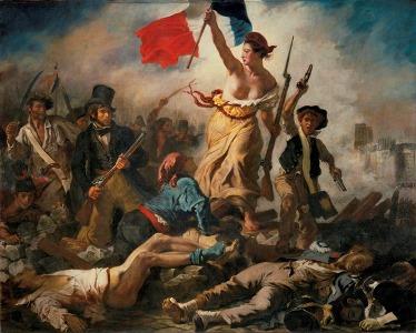 Eugène Delacroix – Le 28 Julliet: La Liberté guidant le peuple (La Libertad guiando al pueblo), 1830. Óleo sobre lienzo. 260 x 325 cm. Musée du Louvre, Paris. © Musée du Louvre / E. Lessing.