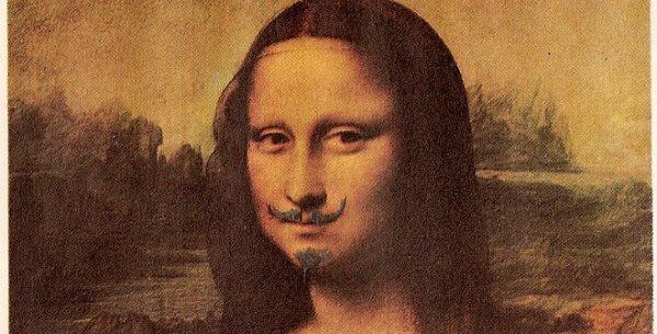 Marcel Duchamp – L.H.O.O.Q., detalle