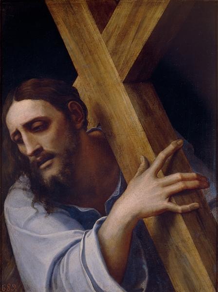 Sebastiano del Piombo - Cristo con la cruz a cuestas, 1532-35. Óleo sobre pizarra. 43 x 32 cm. ©Museo Nacional del Prado.