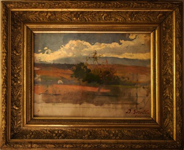 Obra atribuida a Joaquín Sorolla y que resultó ser una falsificación.