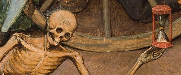 Pieter Bruegel el Viejo - El triunfo de la Muerte (después de la restauración)'. 1562 – 1563. Óleo sobre tabla, 117 x 162 cm. Museo Nacional del Prado. Detalle.