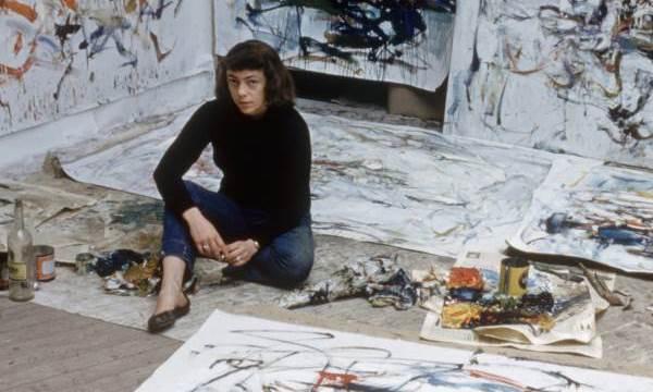 Joan Mitchell, en su estudio de París en septiembre de 1956