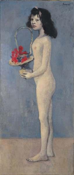 Picasso - Fillette à la corbeille fleurie, 1905.