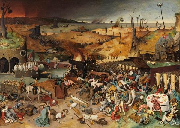 Pieter Bruegel el Viejo - El triunfo de la Muerte (después de la restauración)'. 1562 – 1563. Óleo sobre tabla, 117 x 162 cm. Museo Nacional del Prado.