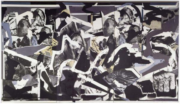 Darío Villalba – Antes 1983, 1983. Emulsión fotográfica y óleo sobre lienzo. Tríptico: 300 x 650 cm. Museo Nacional Centro de Arte Reina Sofía.