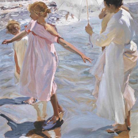 Joaquín Sorolla y Bastida (1863-1923) - La hora del baño, Valencia, 1909. Óleo sobre lienzo. 149,9 x 150,5. Fundación Museo Sorolla, Madrid.