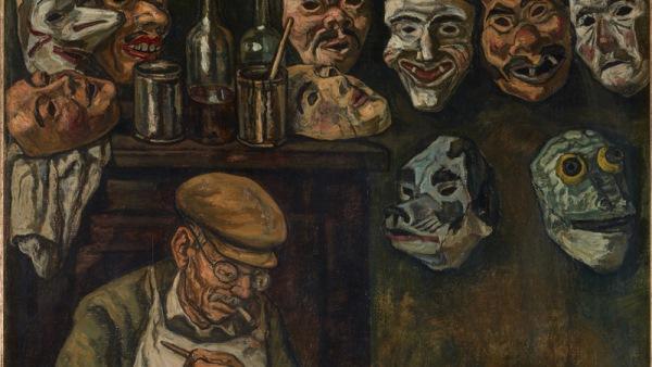 José Gutiérrez Solana - El constructor de caretas, 1944 (detalle).