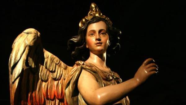 Luisa Roldán, La Roldana – Una de las dos figuras expuestas en el Alcázar de Sevilla en 2007, dentro del programa Andalucía Barroca. Foto Millán Herce.