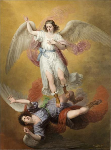 Antonio María Esquivel - La caída de Luzbel, 1840. Óleo sobre lienzo. 275 x 205 cm. Museo Nacional del Prado.