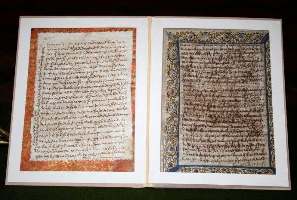 Cartas manuscritas de Santa Teresa recuperadas por la Guardia Civil.