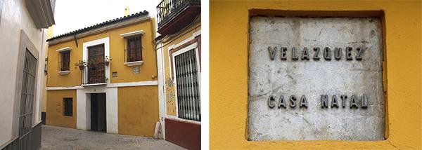 Casa natal de Velázquez y placa, Sevilla.