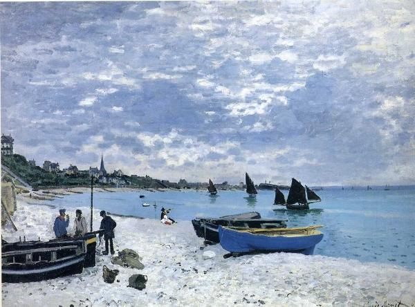 Claude Monet - La playa en Sainte-Adresse, 1867. Óleo sobre lienzo. 75,8 x 102,5 cm. © The Art Institute of Chicago. Mr. and Mrs. Lewis Larned Coburn Memorial Collection.