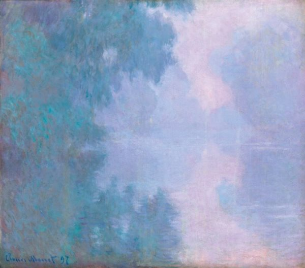 Claude Monet - Mañana en el Sena, Giverny, 1897. Óleo sobre lienzo. 81 x 92 cm. © Mead Art Museum, Amherst College, Amherst. Bequest of Miss Susan Dwight Bliss.