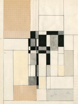 Elena Asins - Divertimentos en el viaje de 1965 (Paris, Köln, Heidelberg, Bruxelles, S/t), 1965. Colección José María Lafuente, Santander.