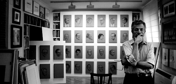 Hernán Cortés Moreno - Estudio del pintor. Colección particular (Madrid). Foto María Bisbal. Se reconocen muchos de los personajes retratados que aparecen en la imagen.