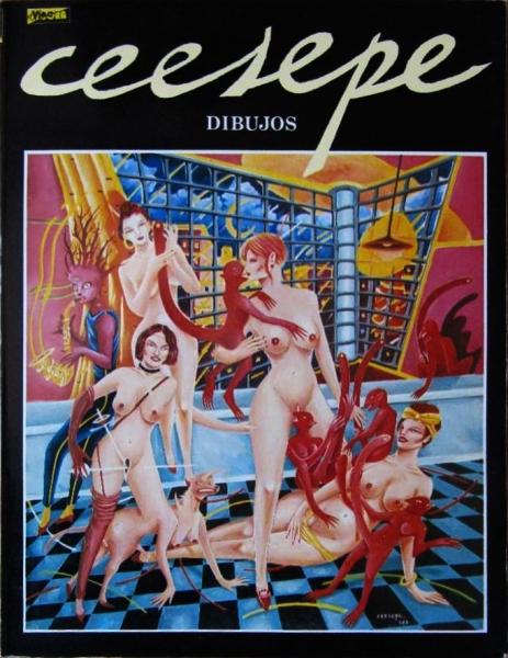 Ceesepe – Portada de la revista El Víbora, número especial Dibujos.