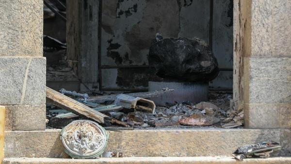 El meteorito Bendegó, único superviviente del incendio del Museu Nacional de Brasil.