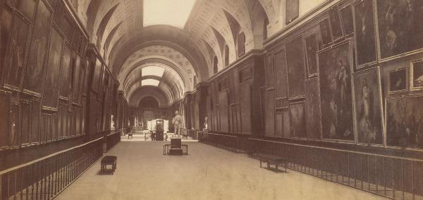 Museo Nacional del Prado – Vista perspectiva de la Galería Central en una imagen retrospectiva.