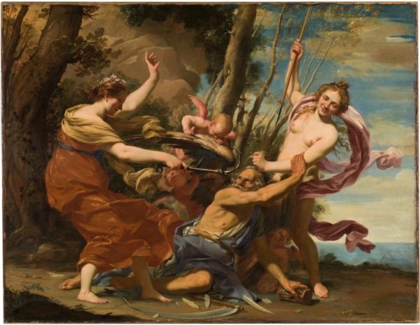Simon Vouet - El tiempo vencido por la esperanza y la belleza. 1627. Óleo sobre lienzo. 107 x 142 cm. Museo Nacional del Prado.