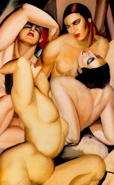 Tamara de Lempicka – Grupo de cuatro desnudos, 1925. © Tamara Art Heritage / ADAGP, Paris/ VEGAP, Madrid, 2018.