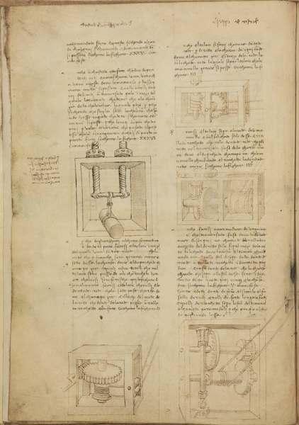 Maestro del Arte y de la Ciencia: Leonardo da Vinci. Varios de los documentos que se exhiben en la exposición.
