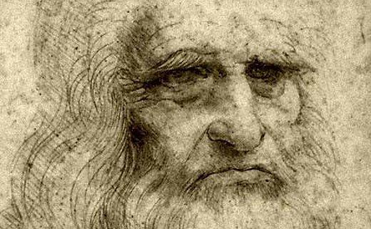 Maestro del Arte y de la Ciencia: Leonardo da Vinci. Autorretrato.