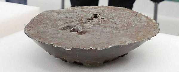 Lingote de plata encontrado en aguas de Getaria